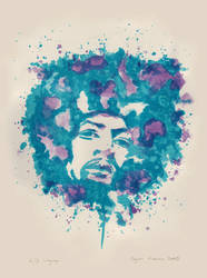 Jimi Hendrix - Lithography by ayperisi