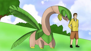 BananaFire_ and Tropius by AusLove