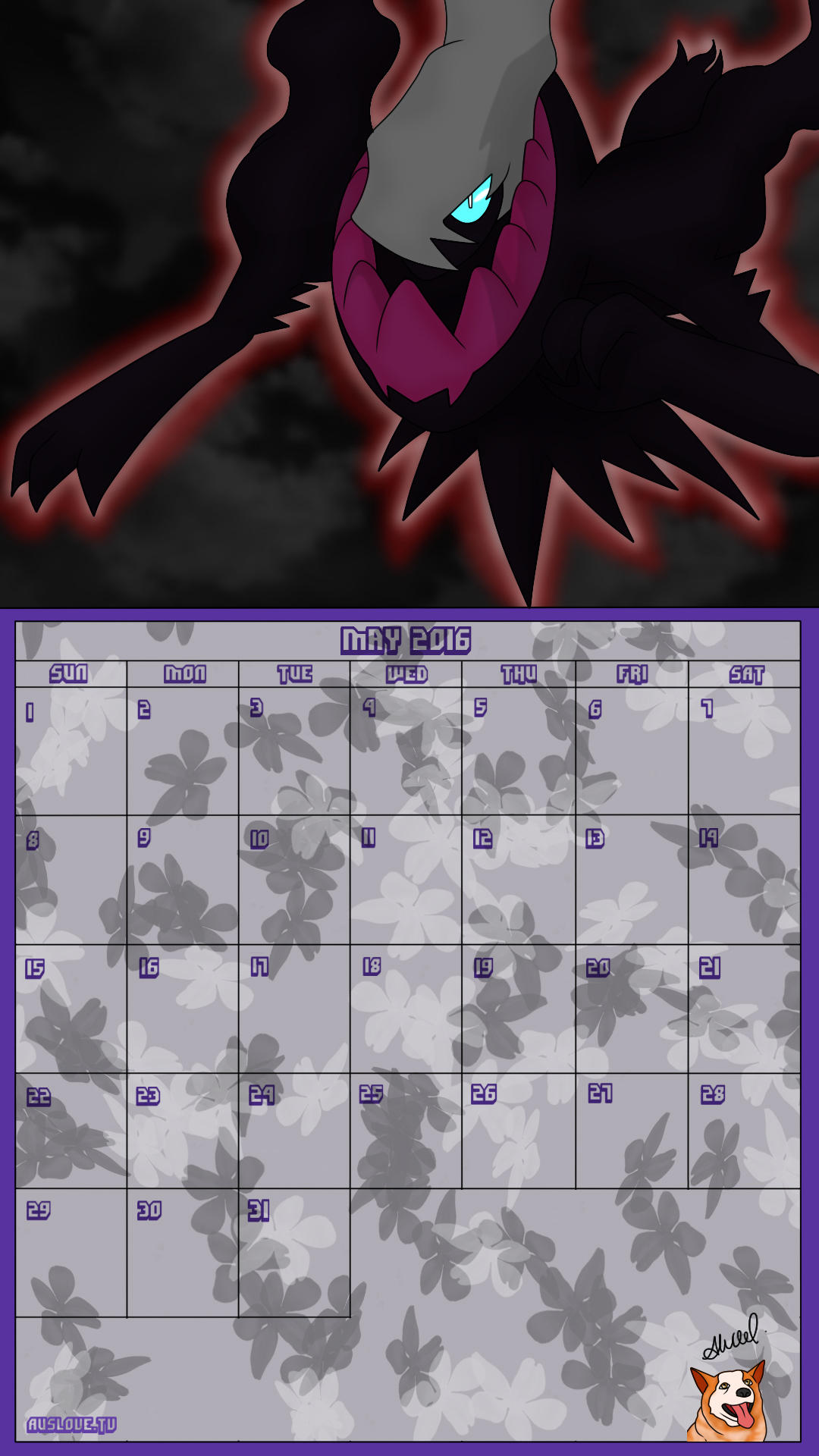 Pokemon 20th Anniversary Calender - May 2016 by AusLove