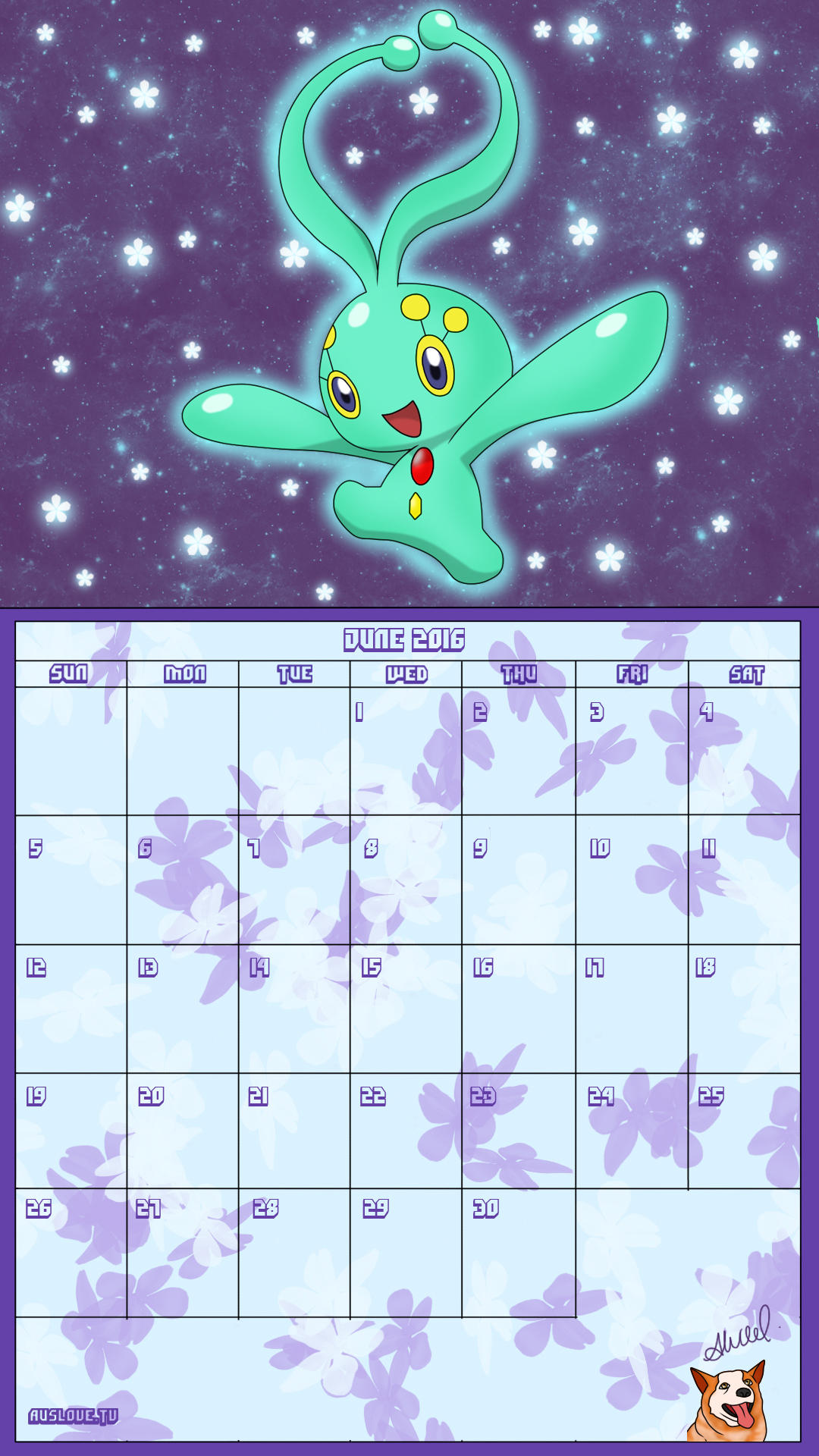 Pokemon 20th Anniversary Calender - June 2016 by AusLove
