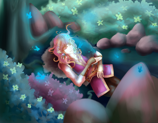 Sweet Nap in Evergreen Forest by Eriin-chan