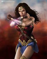 Wonder Woman Gal Gadot by nicocalderon