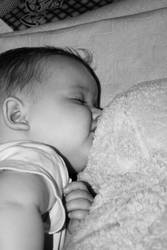 baby izzy sleeping by luckinlove