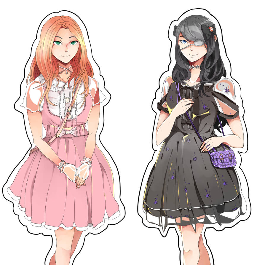 c5136e8d4f Art Request - Amelia and Alexis by Shanochi on DeviantArt