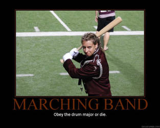 Marching Band Drum Majors by featherbrained-flute