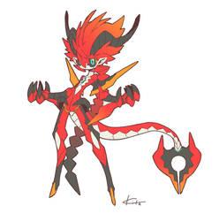 Dragonewt by kitakazee