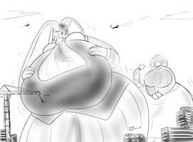 Vanilla meeting Emiko, two megamoms by Feyzer