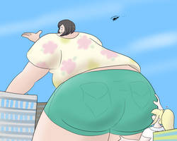 Enormooning with Lillie appreciating by Feyzer