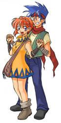 Norya and Karean by edwardgan