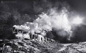 Steam train in Maramures 01 by adypetrisor