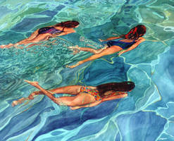 Three Swimmers by FredaSurgenor