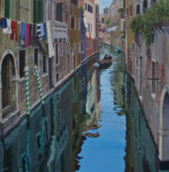 Early morning run, Venice by FredaSurgenor