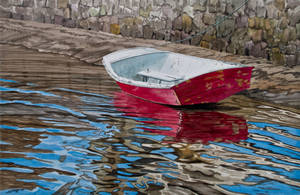 Red boat by FredaSurgenor