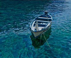 Blue boat by FredaSurgenor
