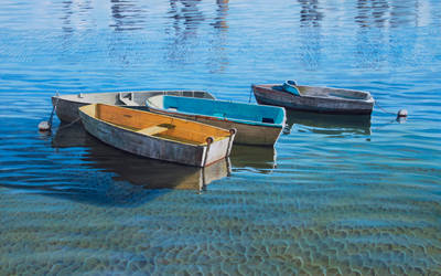 Four working boats by FredaSurgenor