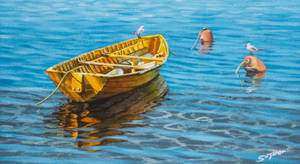 The yellow dinghy by FredaSurgenor