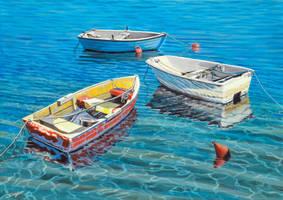 Three working boats by FredaSurgenor