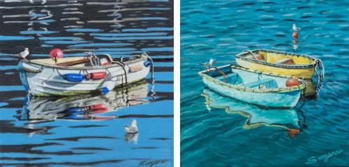 Two Miniature Paintings by FredaSurgenor