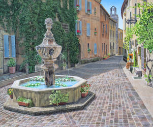 Floral Fountain, Venasque, France by FredaSurgenor