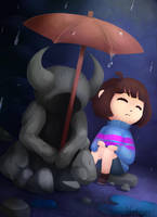 Undertale ~ Statue with a Musicbox by Nekoeri
