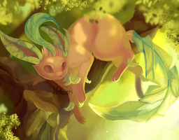 Leafeon - in the shade of the tree by Nekoeri