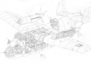 Experimental bomber plane Elephant by PenUser