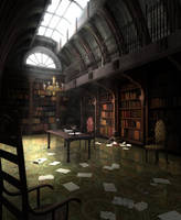 The Library by PaintedThoughts