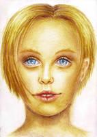 Gesicht mit Buntstiften by sockenzombie