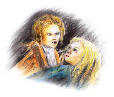 Interview with a vampire - Claudia and Lestat by sockenzombie