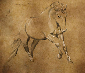 Running Horse by workofaart