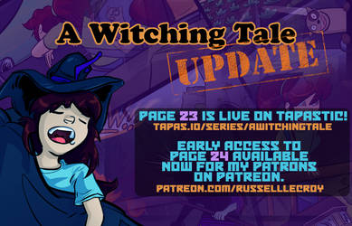 A Witching Tale update! Pages 23 and 24 by Russell-LeCroy