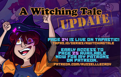 A Witching Tale update! Pages 24 and 25 by Russell-LeCroy