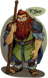Kybar the Dwarf Druid by Russell-LeCroy