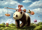 Panda ride by Ploopie