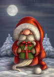 Little Santa with a gift by Ploopie