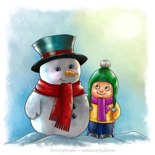 Snow buddies by Ploopie