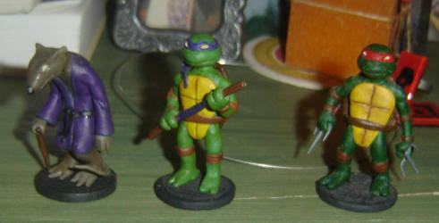 TMNT miniatures by maryarts