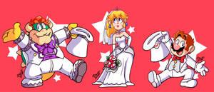 Mario Wedding by MrBowz