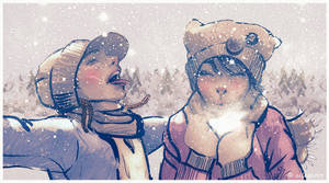 It's snowing by allegator
