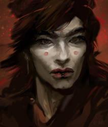 Dark man by allegator