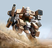 Desert Assault Mech by wedgeismyhero