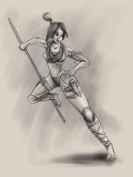 Amazona Sketch by wap711