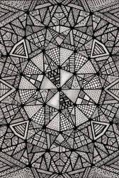 Triangulum Mandala (Black-White) by Loggaa