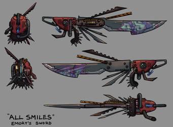 'All Smiles' - Emory's Sword by unleveLedNate