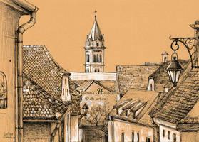 Roofs in Transylvania by dasidaria-art