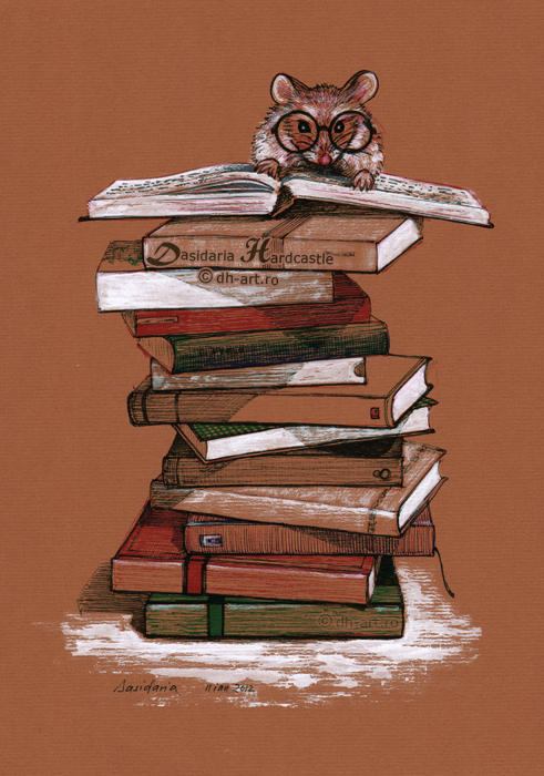 The library mouse by dasidaria-art