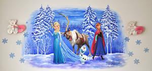 Mural . Frozen by dasidaria-art