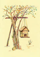 Tree house by dasidaria-art