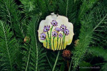 Hand painted necklace iii by dasidaria-art