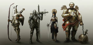 four knights by Headdl